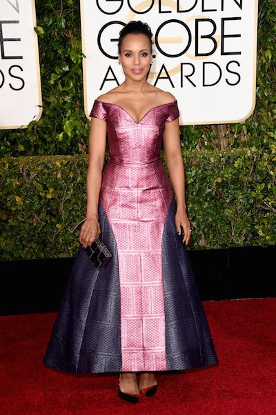 Kerry Washington attends the 2015 Golden Globe Awards