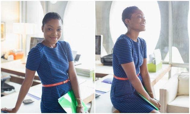 black-woman-office-happy