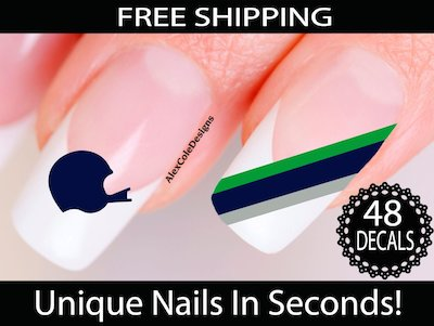 Seahawks Nail Stickers