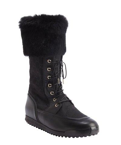 Rabbit Fur Trim Boots