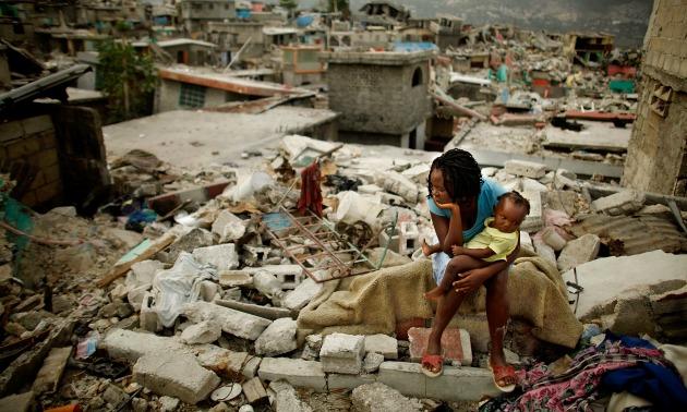 <> on February 26, 2010 in Port-au-Prince, Haiti.