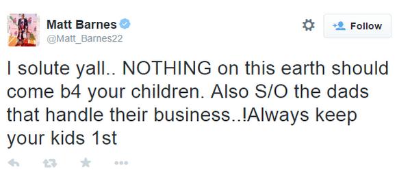 Matt Barnes Tweet2