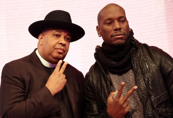 "Tyrese & Rev. Run Visit BET's ""106 & Park"""
