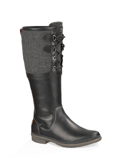 Leather and Wool Blend Boots