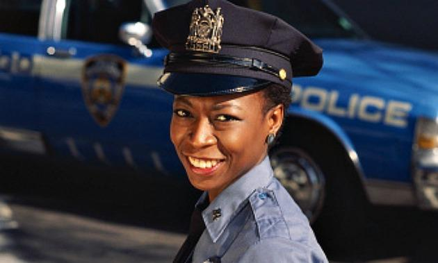 black woman police officer