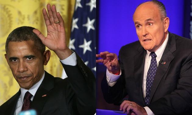 President Obama & Rudy Guiliani