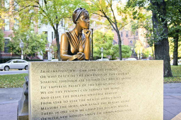 Boston, Massachusetts, Statue Of Poet Phillis Wheatley (1753 – December 5, 1784), Enslaved At The Age Of Eight, Is Widely Known As The First African-American Woman In United States' History To Have Her Poetry Published.