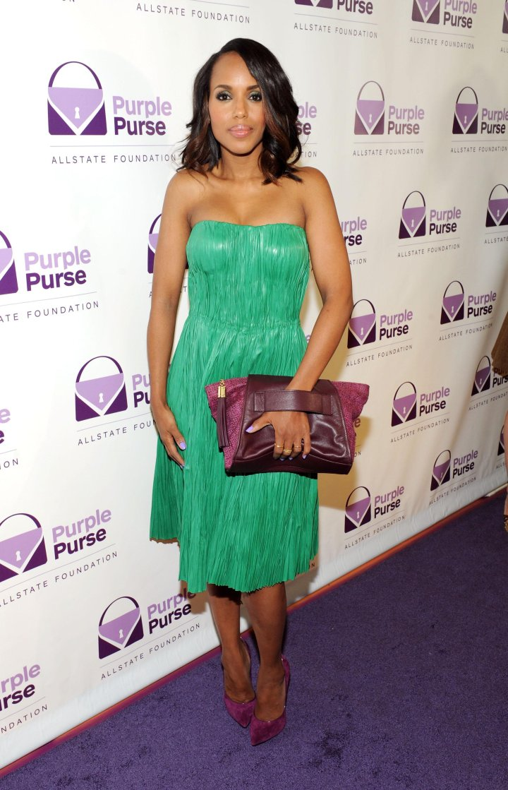 Kerry Washington attends the 2014 Allstate Foundation Purple Purse Programe
