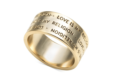 Love is My Religion Ring