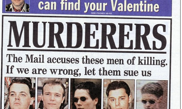 1997: Stephen Lawrence's Alleged Murderers Exposed
