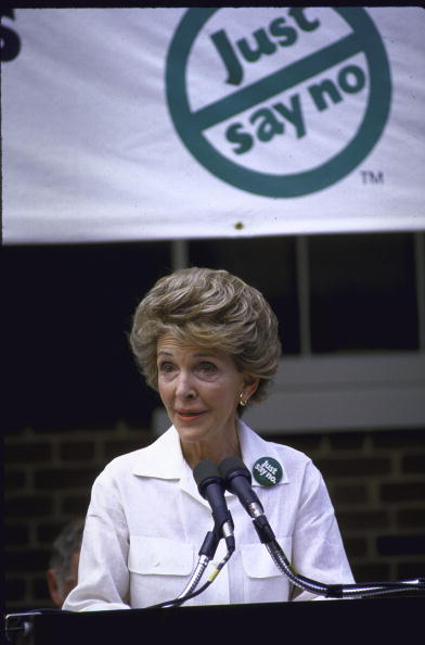 Nancy Reagan (born Anne Frances Robbins)-Married to Ronald Reagan, The First Lady from 1981-1989