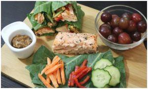 Thai Salmon Collard Green Wraps