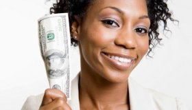 Black Woman With Money