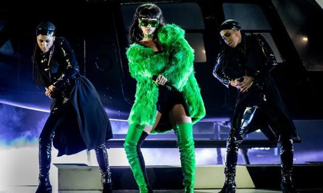Rihanna in Green