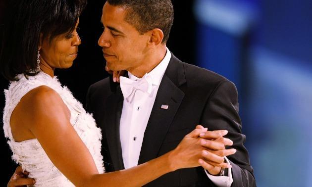 Barack & Michelle Obama's first dance, Jan. 20, 2009.