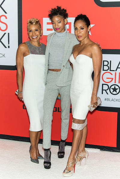 Jada Pinkett-Smith with her mother and daughter Willow