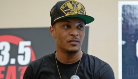T.I Visits Miami Radio Station 103.5 The Beat