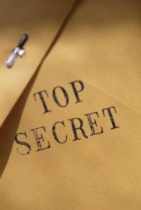 Envelope stamped top secret