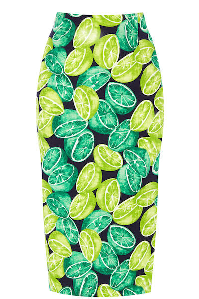 Lime Print Skirt