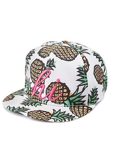 Pineapple Print Cap