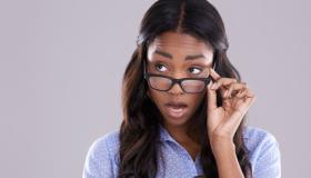 Black woman side eye
