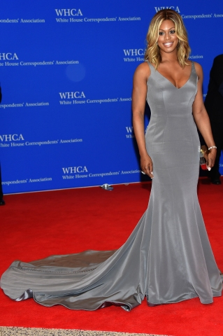 Laverne Cox at the White House Correspondent's Dinner