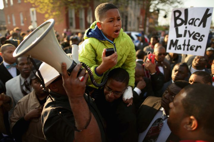 A Child Joins The Baltimore Protests