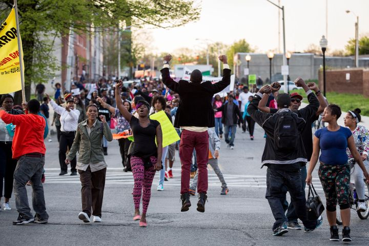 Protesters Hold Vigil And March Over Death Of Freddie Gray After Police Arrest