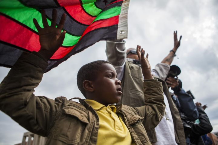 Children Involved In Baltimore Protests