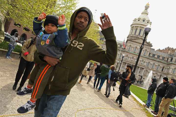 Baltimore Protestors Involve Their Kids