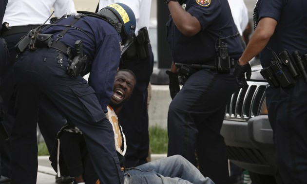Protests in Baltimore After Funeral Held For Baltimore Man Who Died While In Police Custody