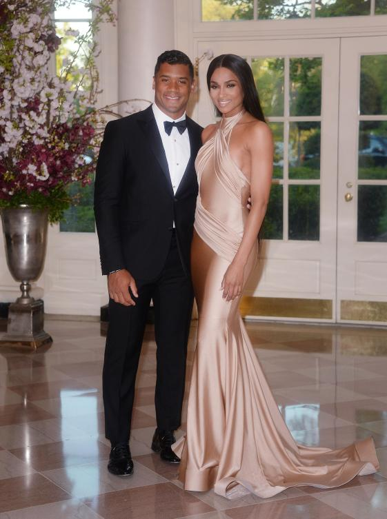 Russell Wilson and Ciara at White House State Dinner