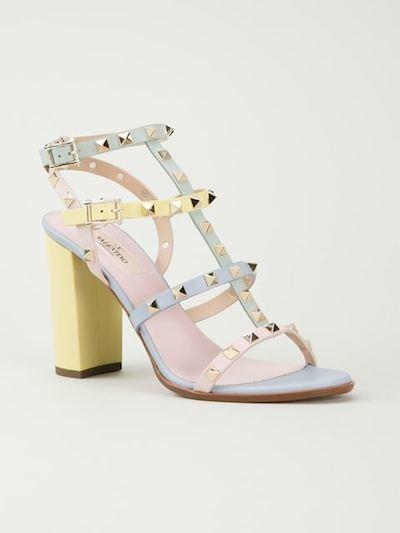 Pastel Studded Sandals