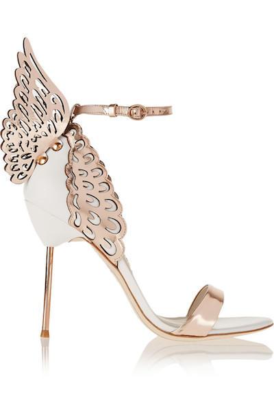 Metallic Winged Sandals
