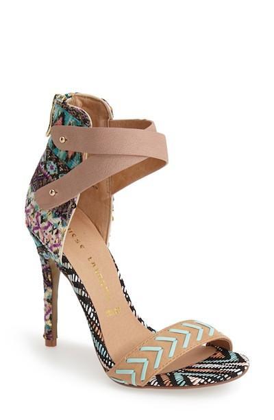 Mixed Print Sandals