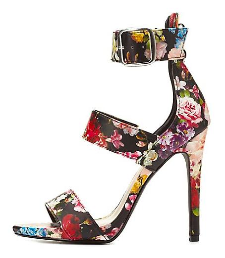 Strappy Floral Sandals
