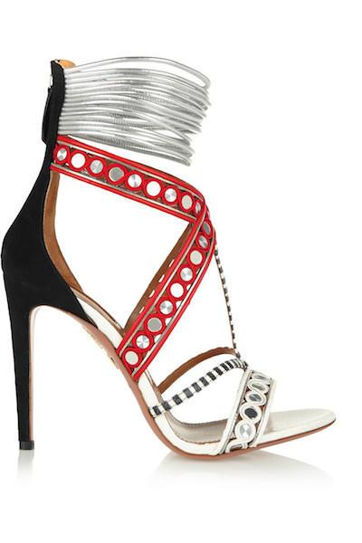Mixed Media Sandals