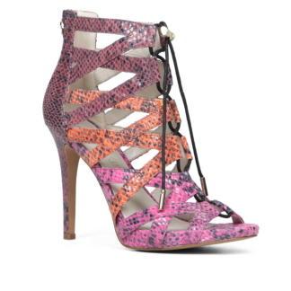 Multicolor Snakeskin Sandals