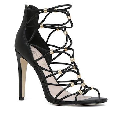 Embellished Caged Sandals