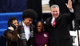Bill De Blasio Sworn In As New York City Mayor