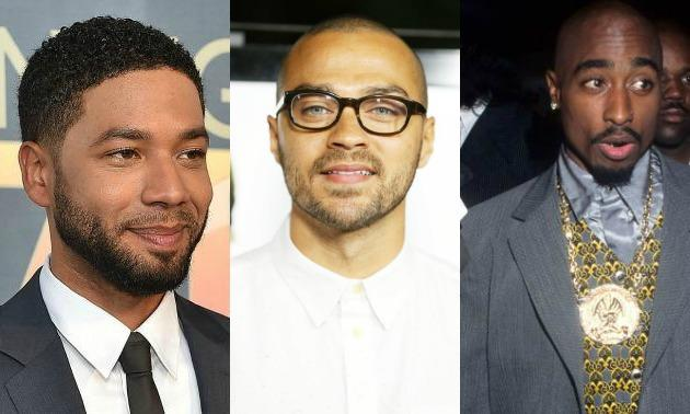 Collage of Jussie Smollett, Jesse Williams & Tupac