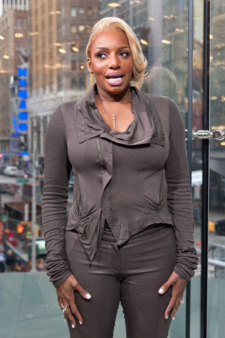 NeNe Leakes visits 'Extra' at their New York studios at H&M in Times Square in April of 2015.
