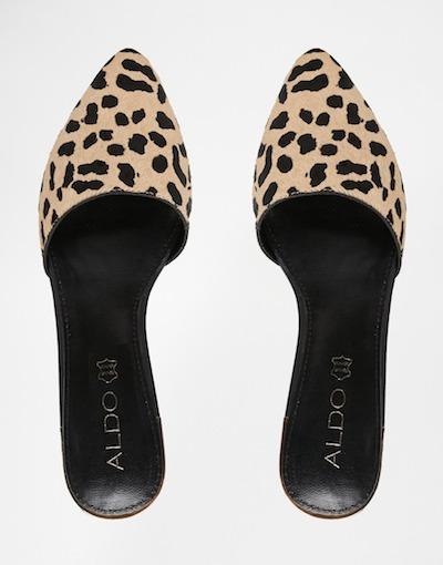 Leopard Flat Mules