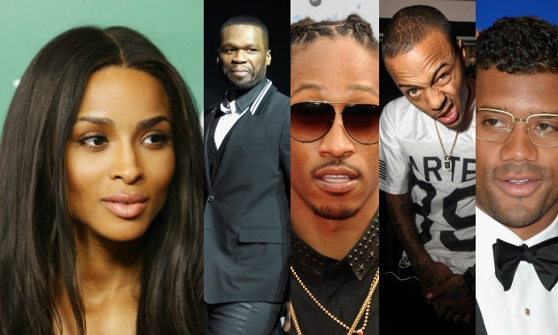 Ciara, 50 Cent, Future, Bow Wow, Russell Wilson