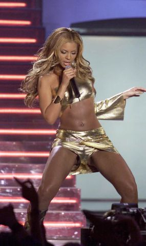 Beyonce in Gold