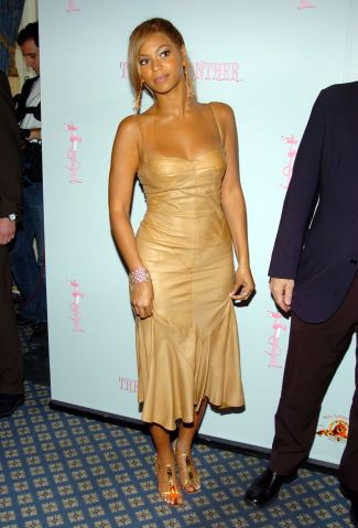Beyonce In Nude Leather