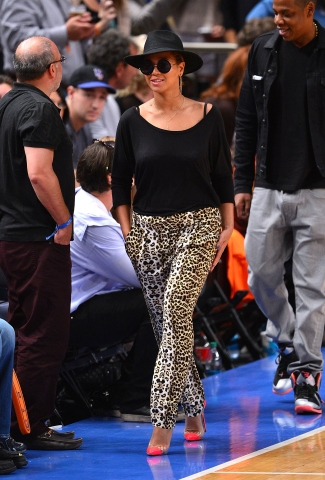 Beyonce At Basketball game