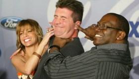 Simon Cowell, Paula Abdul and Randy Jackson