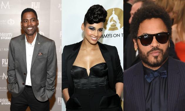 Chris Rock, Alicia Keys, Lenny Kravitz