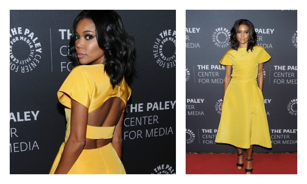 Gabrielle Union Yellow Gown